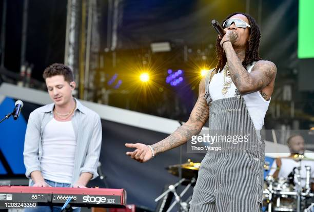 Charlie Puth and Wiz Khalifa perform onstage during Universal Pictures Presents The Road To F9 Concert and Trailer Drop on January 31 2020 in Miami...