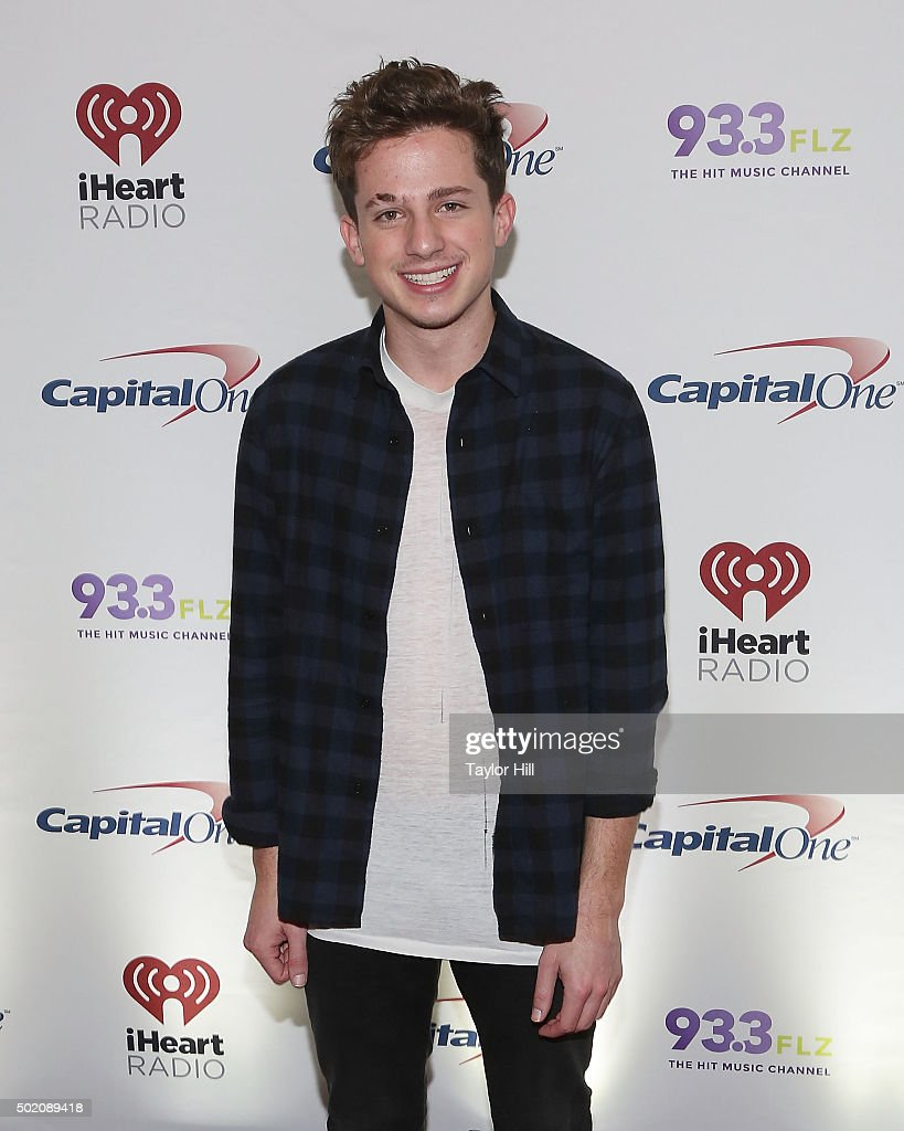Charlie Puth attends 93.3 FLZ's 2015 Jingle Ball at Amalie Arena on December 19, 2015 in Tampa, Florida.