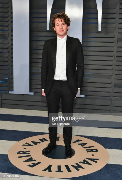 Charlie Puth attends the 2018 Vanity Fair Oscar Party hosted by Radhika Jones at Wallis Annenberg Center for the Performing Arts on March 4 2018 in...