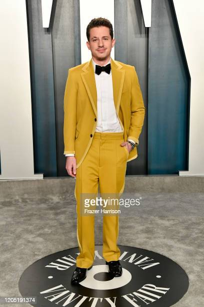 Charlie Puth attends the 2020 Vanity Fair Oscar Party hosted by Radhika Jones at Wallis Annenberg Center for the Performing Arts on February 09 2020...