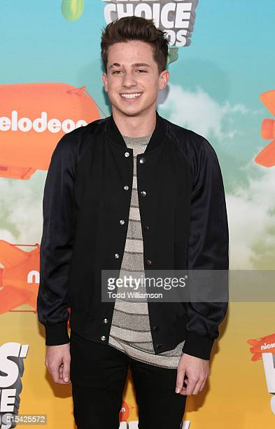 Charlie Puth attends the Nickelodeon's 2016 Kids' Choice Awards at The Forum on March 12 2016 in Inglewood California