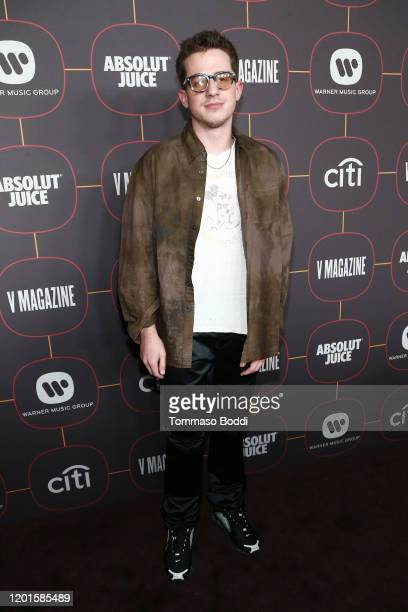 Charlie Puth attends the Warner Music Group Pre-Grammy Party at Hollywood Athletic Club on January 23, 2020 in Hollywood, California.