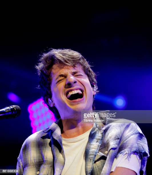 Charlie Puth performs at 1061 KISS FM's iHeartRadio Jingle Ball 2017 at American Airlines Center on November 28 2017 in Dallas Texas