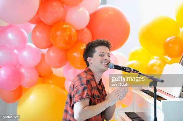 Charlie Puth performs during Spotify's original podcast Showstopper celebrates Outstanding Music Supervision on September 9 2017 in Los Angeles...