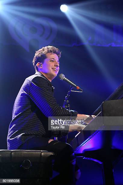 Charlie Puth performs during the 2015 Y100 Jingle Ball at BBT Center on December 18 2015 in Sunrise Florida