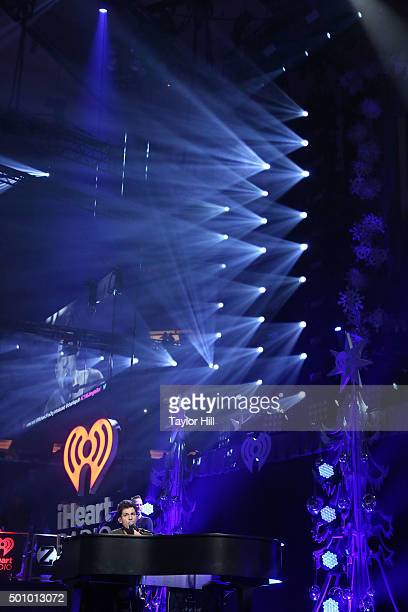 Charlie Puth performs during the 2015 Z100 Jingle Ball at Madison Square Garden on December 11 2015 in New York City