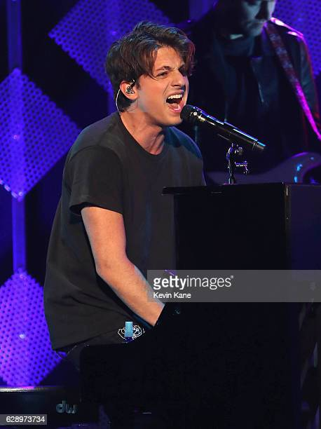 Charlie Puth performs during the 2016 Z100 Jingle Ball at Madison Square Garden on December 9 2016 in New York City