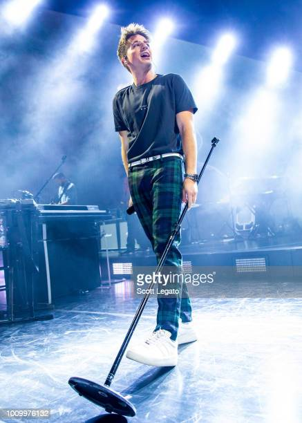 Charlie Puth performs during the Honda Civic Tour 2018 at DTE Energy Music Theater on August 2 2018 in Clarkston Michigan