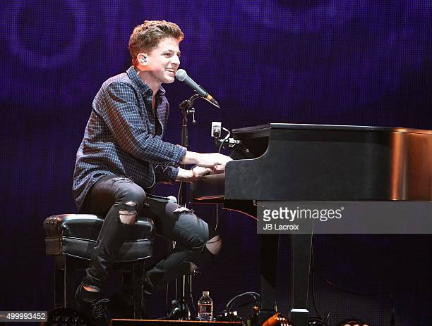Charlie Puth performs during the KIIS FM's Jingle Ball 2015 presented by Capital One on December 4 2015 in Los Angeles California
