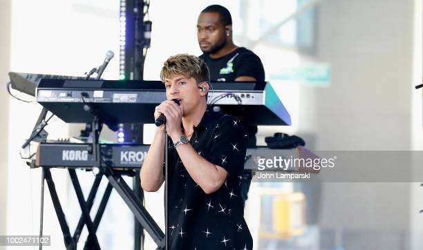 Charlie Puth performs on NBC's 'Today' at Rockefeller Plaza on July 20 2018 in New York City