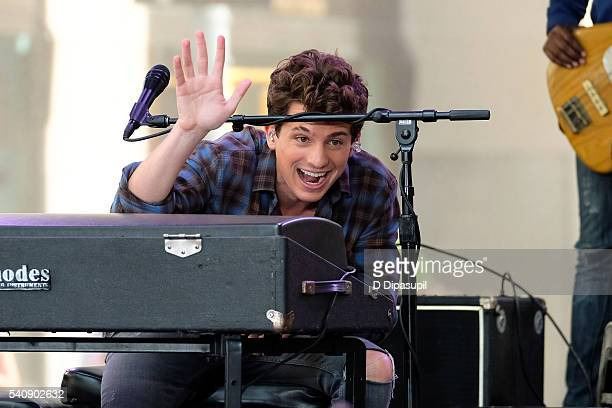 "Charlie Puth performs on NBC's ""Today"" at Rockefeller Plaza on June 17, 2016 in New York City."