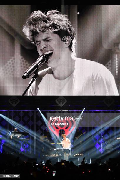 Charlie Puth performs onstage at the Z100's Jingle Ball 2017 on December 8 2017 in New York City