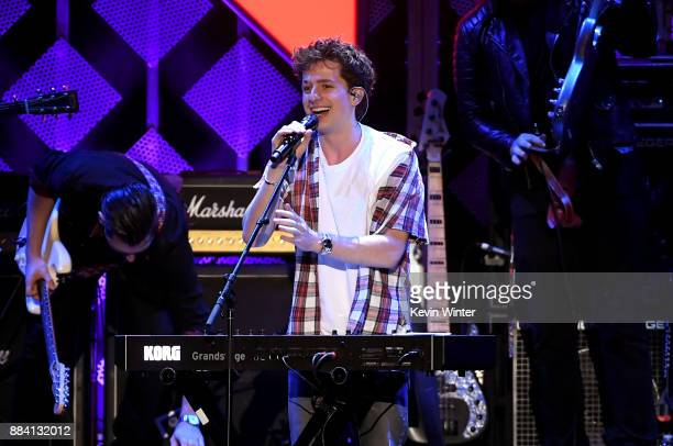 Charlie Puth performs onstage during 1027 KIIS FM's Jingle Ball 2017 presented by Capital One at The Forum on December 1 2017 in Inglewood California