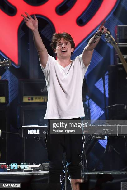 Charlie Puth performs onstage during Power 961's Jingle Ball 2017 Presented by Capital One at Philips Arena on December 15 2017 in Atlanta Georgia