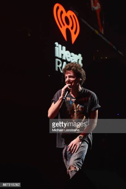Charlie Puth performs onstage during Q102's Jingle Ball 2017 Presented by Capital One at Wells Fargo Center on December 6 2017 in Philadelphia...