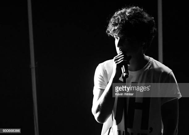 Charlie Puth performs onstage during the 2018 iHeartRadio Music Awards which broadcasted live on TBS TNT and truTV at The Forum on March 11 2018 in...