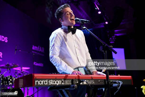 Charlie Puth performs onstage during the 2020 amfAR New York Gala at Cipriani Wall Street on February 05 2020 in New York City