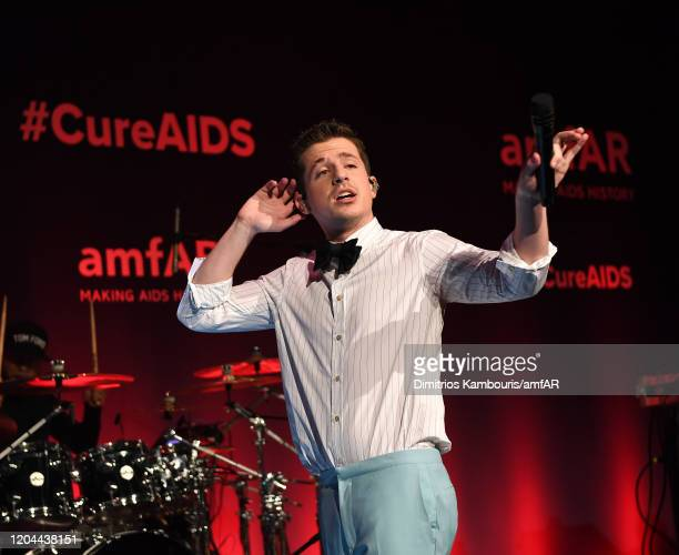 Charlie Puth performs onstage during the 2020 amfAR New York Gala at Cipriani Wall Street on February 05, 2020 in New York City.