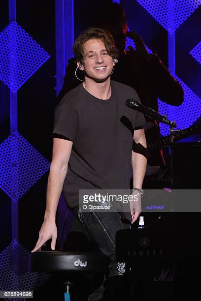 Charlie Puth performs onstage during Z100's Jingle Ball 2016 at Madison Square Garden on December 9 2016 in New York City
