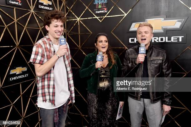 Charlie Puth Sisanie and JoJo Wright in the press room during 1027 KIIS FM's Jingle Ball 2017 presented by Capital One at The Forum on December 1...