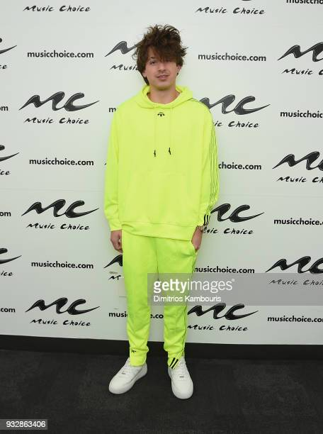 Charlie Puth visits Music Choice at Music Choice on March 16 2018 in New York City