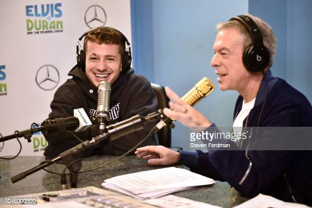 Charlie Puth Visits The Elvis Duran Z100 Morning Show at Z100 Studio on October 5 2018 in New York City