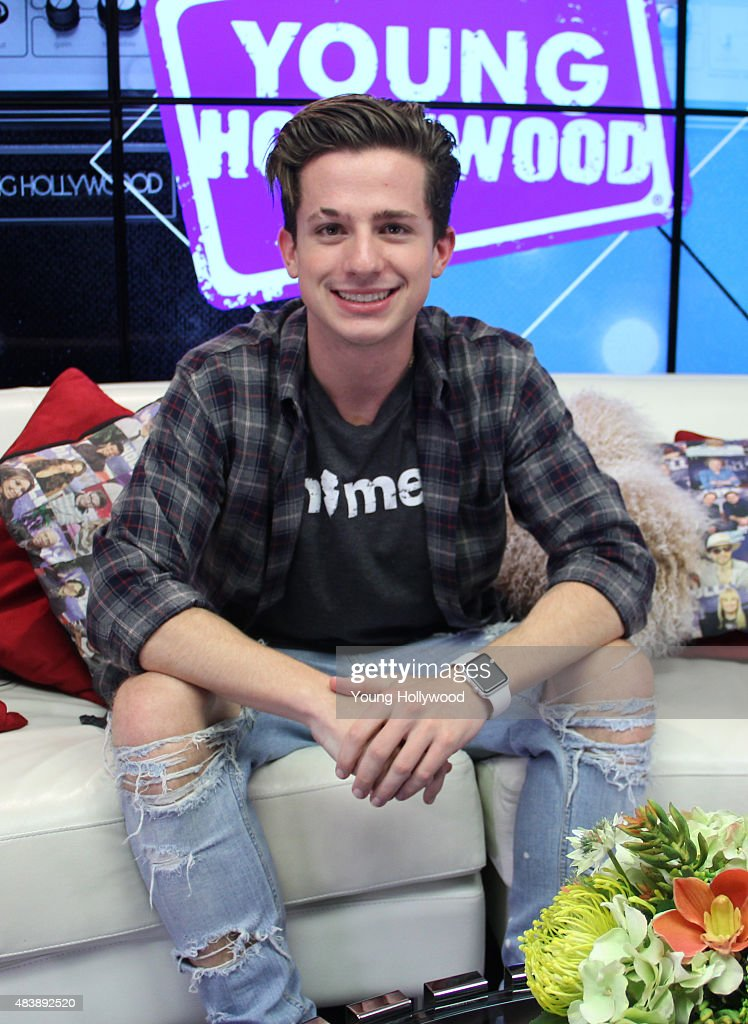 Charlie Puth Visits Young Hollywood Studio