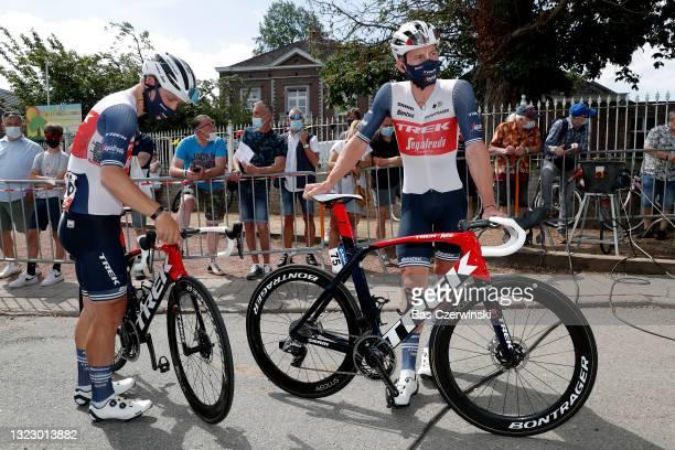 Charlie Quarterman of United Kingdom & Ryan Mullen of Ireland and Team Trek - Segafredo at start during the 90th Baloise Belgium Tour 2021, Stage 3 a...