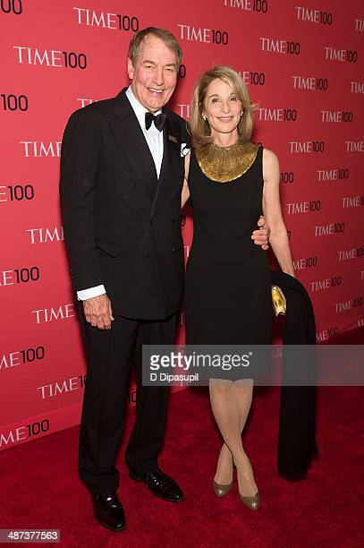 Charlie Rose and Amanda Burden attend the 2014 Time 100 Gala at Frederick P Rose Hall Jazz at Lincoln Center on April 29 2014 in New York City