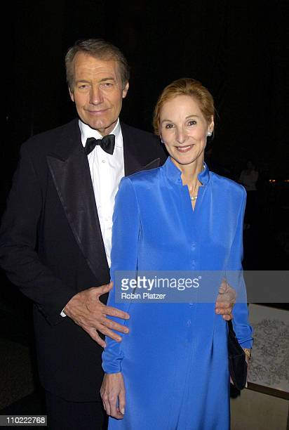 Charlie Rose and Amanda Burden during The 2005 PEN Montblanc Literary Gala at The American Museum of Natural History in New York City New York United...