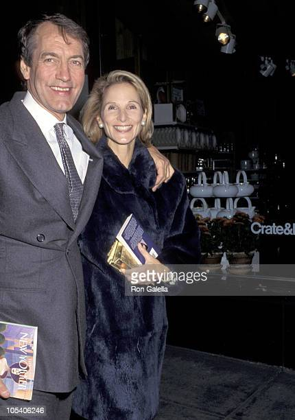 Charlie Rose and Amanda Burden during Tina Brown Hosting Dinner in Honor of Richard Avedon at Il Toscanaccio in New York City New York United States