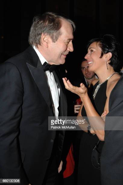 Charlie Rose and Ghislaine Maxwell attend EARTH AWARDS Gala at The Four Seasons on January 12 2009 in New York City
