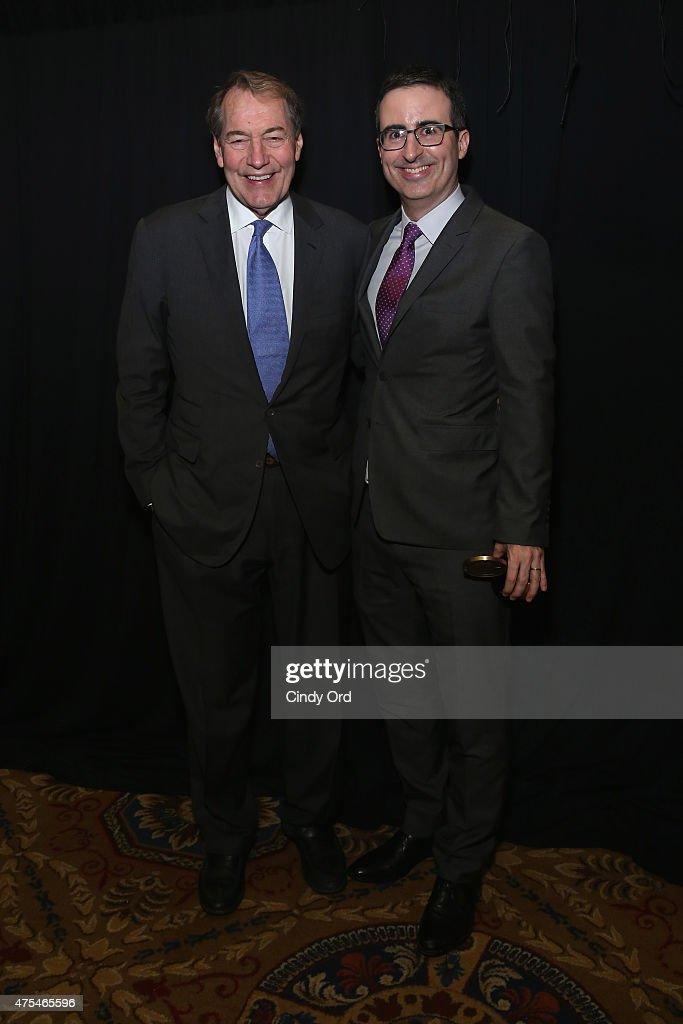 Charlie Rose and John Oliver pose during The 74th Annual Peabody Awards Ceremony at Cipriani Wall Street on May 31, 2015 in New York City.