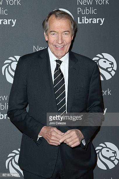 Charlie Rose attends 2016 Library Lions Gala at New York Public Library Stephen A Schwartzman Building on November 7 2016 in New York City