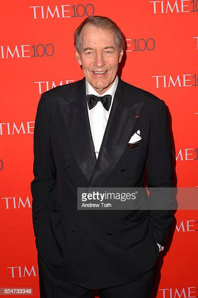 Charlie Rose attends the 2016 Time 100 Gala at Frederick P Rose Hall Jazz at Lincoln Center on April 26 2016 in New York City