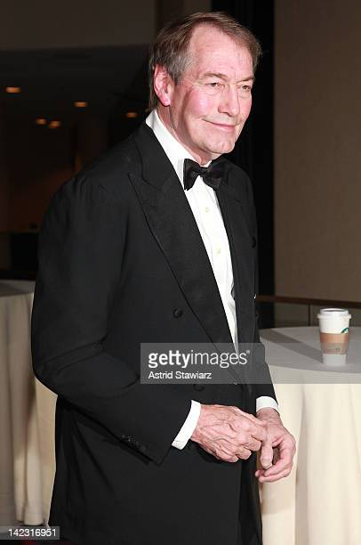 Charlie Rose attends the 55th Annual New York Emmy Awards gala at the Marriott Marquis Times Square on April 1 2012 in New York City