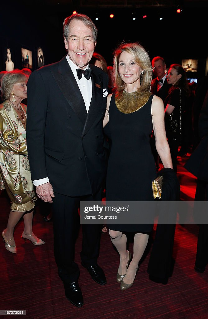 Charlie Rose (L) attends the TIME 100 Gala, TIME's 100 most influential people in the world, at Jazz at Lincoln Center on April 29, 2014 in New York City.