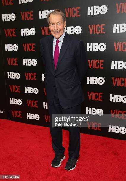 Charlie Rose attends 'Vice Special Report A World In Disarray' New York Presentation at Time Warner Center on July 10 2017 in New York City