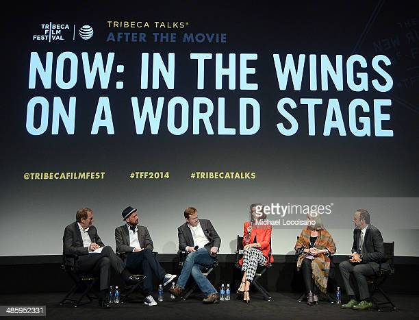 Charlie Rose director and producer Jeremy Whelehan actors Jeremy Bobb Haydn Gwynne Gemma Jones and Kevin Spacey speak onstage during Tribeca Talks...