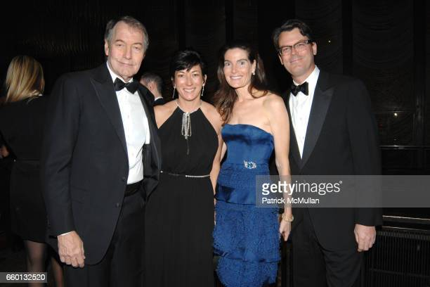 Charlie Rose Ghislaine Maxwell and Jennifer Creel attend EARTH AWARDS Gala at The Four Seasons on January 12 2009 in New York City