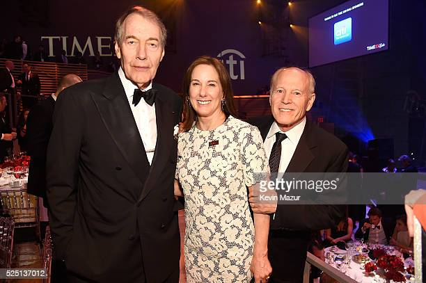 Charlie Rose Kathleen Kennedy and Frank Marshall attend the 2016 Time 100 Gala Time's Most Influential People In The World at Jazz At Lincoln Center...