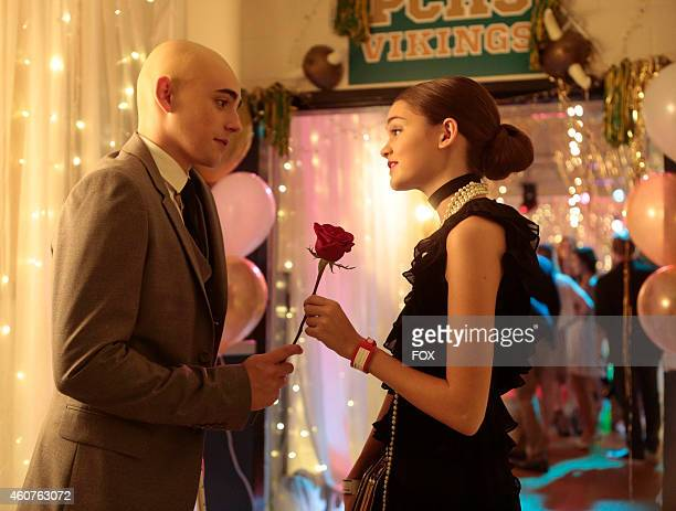 Charlie Rowe and Ciara Bravo in the 'There's No Place Like Homecoming' episode of RED BAND SOCIETY airing Wednesday Oct 8 2014 on FOX