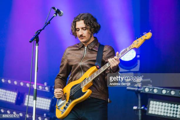 Charlie Salt of Blossoms performs on the main stage during day 1 at Leeds Festival at Bramhall Park on August 25, 2017 in Leeds, England.