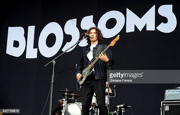 Charlie Salt of Blossoms performs on The Other Stage at Glastonbury Festival 2016 at Worthy Farm Pilton on June 24 2016 in Glastonbury England