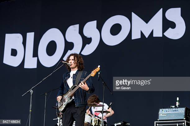 Charlie Salt of 'Blossoms' performs on the Other Stage at the Glastonbury Festival at Worthy Farm Pilton on June 24 2016 in Glastonbury England Now...