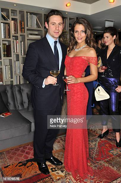 Charlie Schofield and Jo Renwick attend at Bungalow 8 presents Beulah London hosted by Amy Sacco at Belgraves A Thompson Hotel on February 13 2013 in...