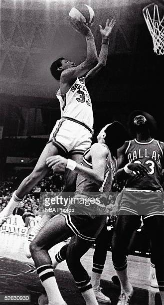 Charlie Scott of the Virginia Squires of the ABA drives to the basket against the Dallas Mavericks circa 1970 in Virginia NOTE TO USER User expressly...