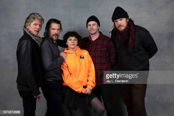Charlie Sexton Ethan Hawke Alia Shawkat Josh Hamilton and Ben Dickey from Blaze are photographed for Los Angeles Times on January 22 2018 in the LA...