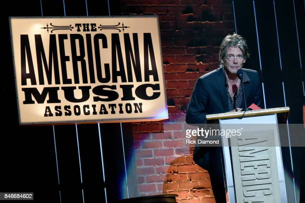 Charlie Sexton speaks onstage during the 2017 Americana Music Association Honors Awards on September 13 2017 in Nashville Tennessee