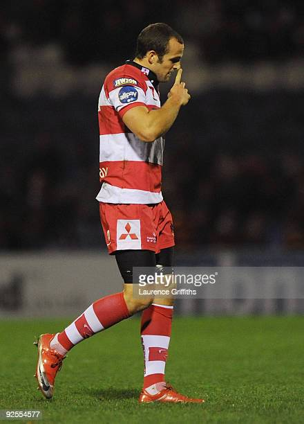 Charlie Sharples of Gloucester is sent off during the Guinness Premiership Match between Sale Sharks and Gloucester at Edgeley Park on October 30,...